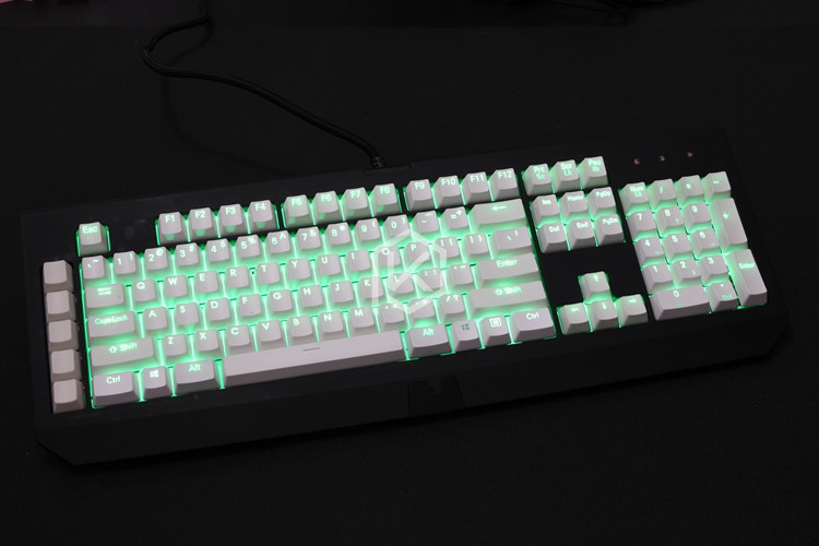 879c44436ec 104/87 key PBT Double shot Translucidus Backlit Keycap For Razer BlackWidow  Ultimate BlackWidow X Mechanical gaming Keyboard-in Keyboards from Computer  ...