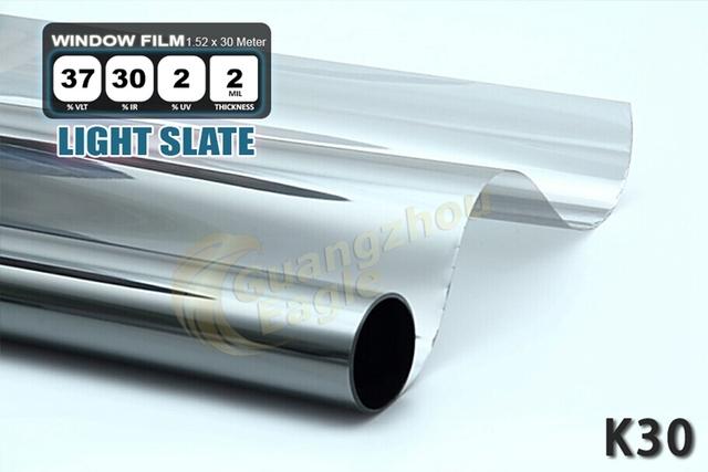 1.52 * 30 m de alto rendimiento del coche del animal doméstico Solar Car Window Tint Film Foil envío gratis / pizarra / K-30