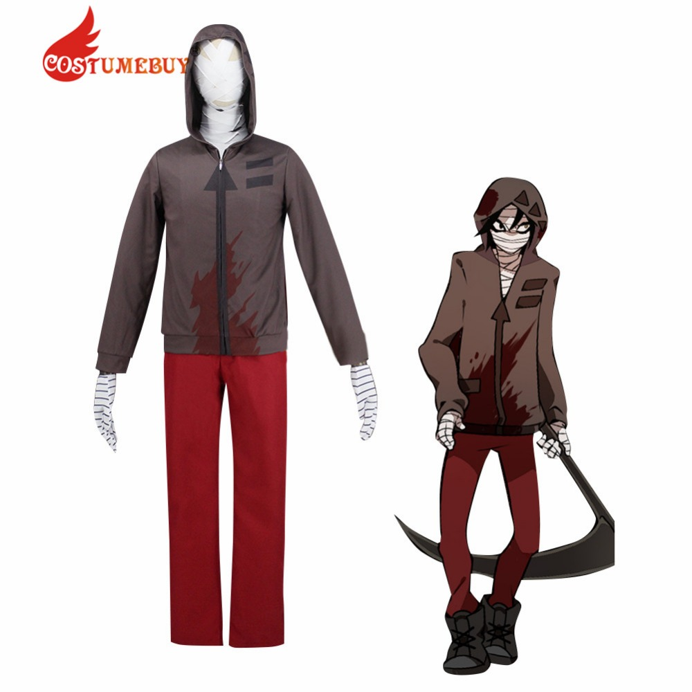 CostumeBuy Angels of Death Costume Isaac Foster Zack Costume Adult Mens Fancy Party Suit L920