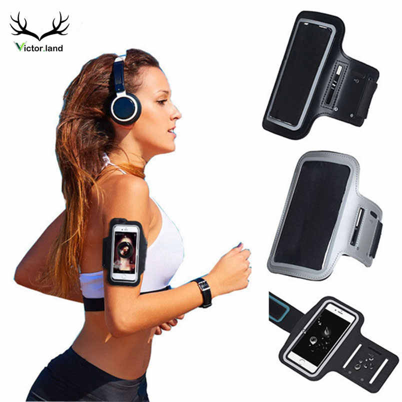 Black Armband Running Waterproof Gym Sports For iphone Xs Max XR X 8 7 4 4s 5 5s 5c SE 6 6s plus Arm Band Mobile Phone Bag Case