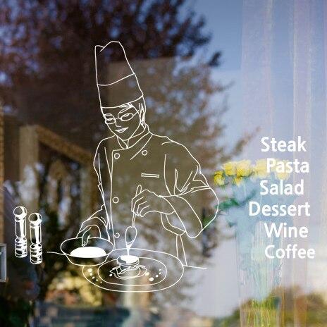 Amazing Bakery Manual Dessert Shop Door Window Glass Decorative Stickers Restaurant  Decorate Wall Cover Points The Teacher
