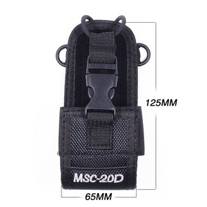 Image 2 - 2Pcs ABBREE MSC 20D Nylon Multi Function Pouch Bag Holster Carry Case for BaoFeng UV 5R/82 888S TYT Mototrola Walkie Talkie