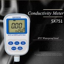 Прибор для измерения уровня PH индикатор ОВП Портативный измерительный прибор измеритель электропроводности воды анализатор растворённого кислорода SX751