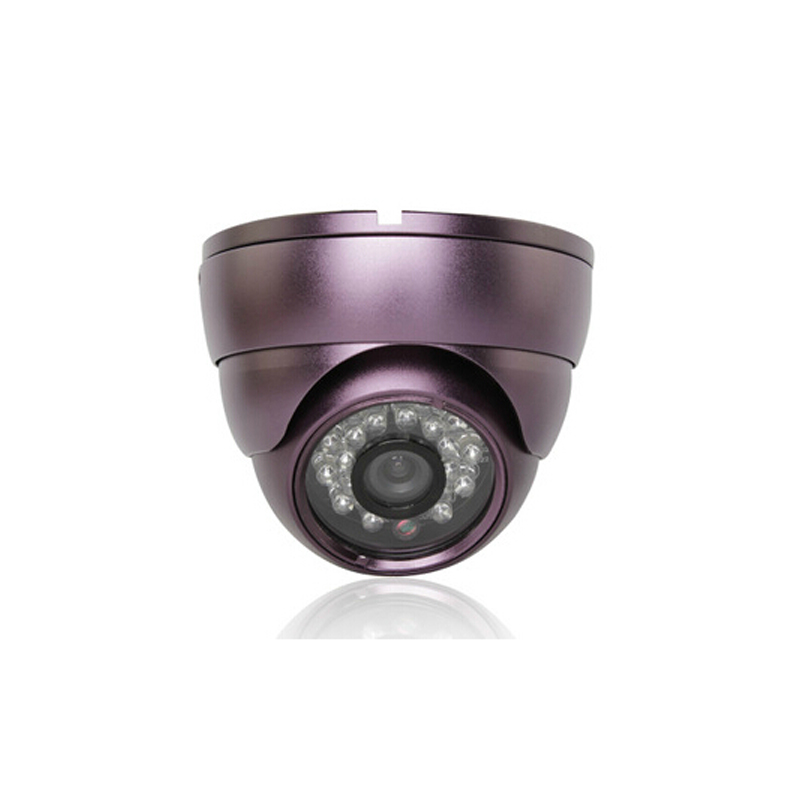 ФОТО AHD 1.0MP 720P Indoor metal dome CCTV camera LED infrared night vision security purple shell