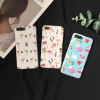 Fashion Cartoon Flower Stripe Dot Colorful Flamingo Case Cover For IPhone 6 6S Plus 7 7plus