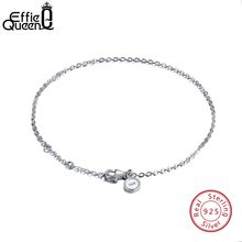 Effie Queen Pure 925 Sterling Silver Bracelets Women Perfect Polished Wrist Bracelet Lobster-claw-clasp Chains for Female BB29(China)