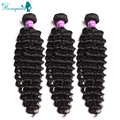 Unprocessed 7A Grade Brazilian Virgin Hair Deep Wave 3 Pcs Mink Brazilian Hair Bundles Human Hair Weave Bundles Brazillian Hair