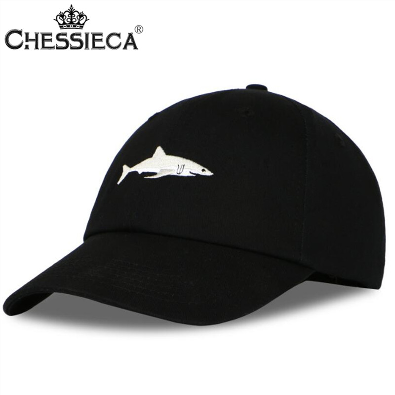 CHESSIECA 2017 New Snapback Washed Baseball Cap Men Pink Shark Embroidery Dad Hat For Women Gorras Planas Bone Casquette Caps youbome fashion new baseball cap hats for men women brand snapback male cotton embroidery bone gorras letter summer dad hat caps