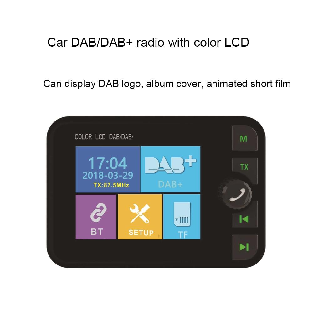 Image 2 - JINSERTA Mini DAB Radio Receiver Colorful TFT Bluetooth FM  Transmitter MCX Antenna 3.5mm Jack Audio Output DAB Tuner Support  TFRadio