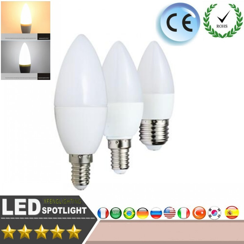 Dimmable 4W AC 120V LED Filament Light Frosted Candle Bulbs C35L Warm White 2700 Kelvin 400LM iRotYi E12 Base Lamp 3-Pack 40W Incandescent Bulbs Replacement
