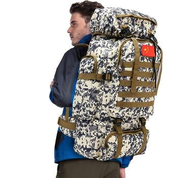 70L mochila táctica militar Molle para montañismo hombres viaje al aire libre deporte bolsas caza Camping mochila ajustable