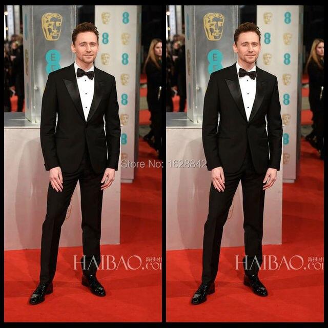 Мода Звезда Стиля Черный Костюмы Однобортный One Button Свадебные костюмы Для Мужчин Индивидуальные Slim Fit Костюм Homme Plus размер