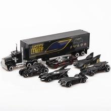 1: 64 6 adet kutulu alaşım yarasa araba oyuncak araçlar sıcak tekerlekli araba Model Metal gövde kapı açılabilir