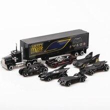 1: 64 6 pièces en boîte en alliage Bat Chariot jouet véhicules roue chaude modèle de voiture en métal corps portes peuvent être ouvertes