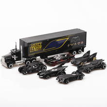 1:64 6pcs Boxed Alloy Bat Chariot Toy Vehicles Hot Wheel Car Model Metal Body Doors Can Be Opened