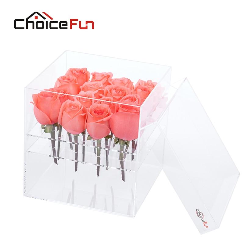акриловые роза коробка