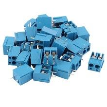 CNIM Горячая 30 шт. 2 Way 2 P печатного монтажа Клеммная колодка Разъем 5,08 мм Pitch Blue