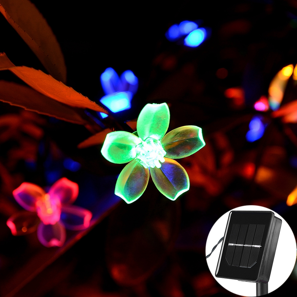 7M Solar String Christmas Lights Outdoor 23 ft 50 LED 3Mode Waterproof Flower Garden Blossom Lighting Party Home Decoration 4