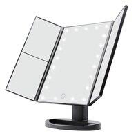 USB Folding Table LED Lamp Luminous Makeup Mirror Cosmetic Mirror Adjustable Tabletop Countertop Light Portable Makeup Mirror