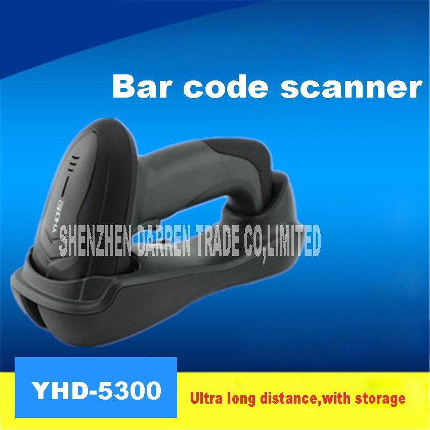 YHD-5300 USB Лазерная Беспроводной Сканирование штрих-код пистолет товара читатель gun декодер с базовой ответственного хранения Express магазин пос...