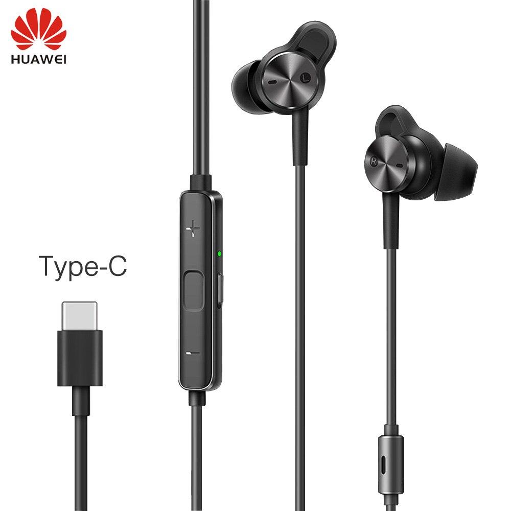 Écouteurs d'origine Huawei ANC type c écouteurs antibruit actifs 3 écouteurs de musique hi res pour P20/Mate 10/Mate Pro Mobile