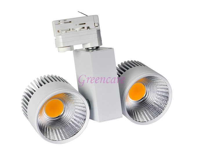 LED Track Light 40W COB Rail Lights Spotlight Equal 400W Halogen Lamp 45mil 110v 120v 220v 230v 240v Warm Cold Natural White