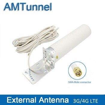 Antena wi-fi 12dBi 4G 3G LTE antena SMA OMNI antena para 3G 4G Roteador HUAWEI antena 10 m para ZTE Vodafone Modem Router Wi-fi