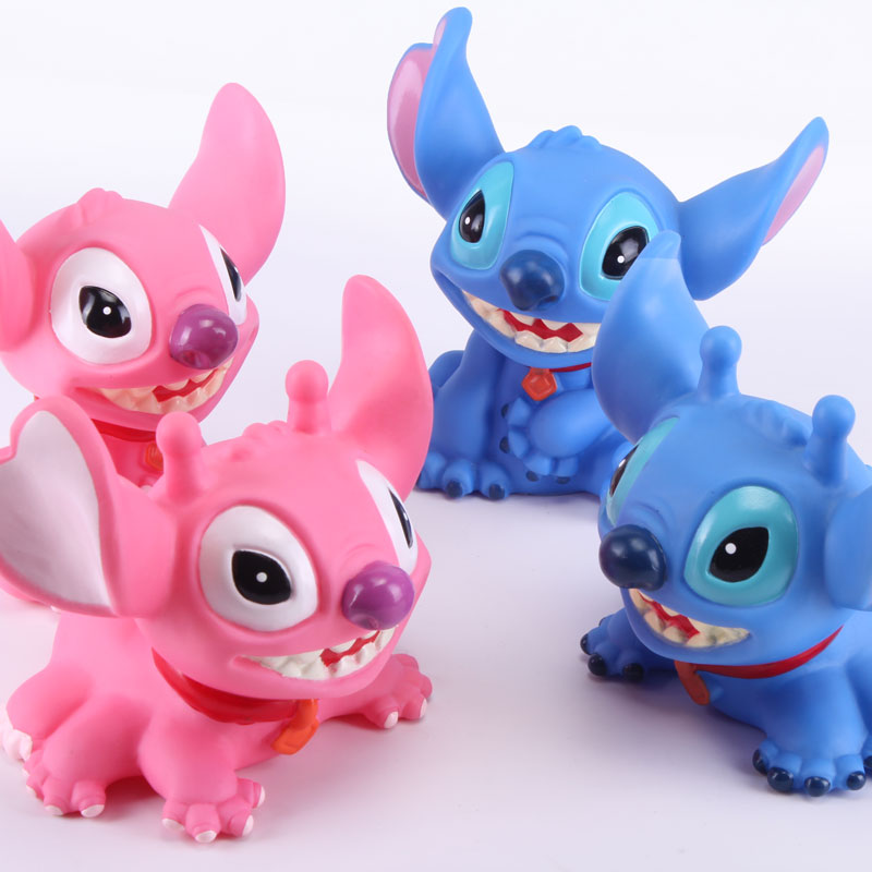 Anime Cartoon Lilo & Stitch Piggy Coin Bank PVC Figure Collectible Model Toys Dolls for Children STFG018 10cm lilo