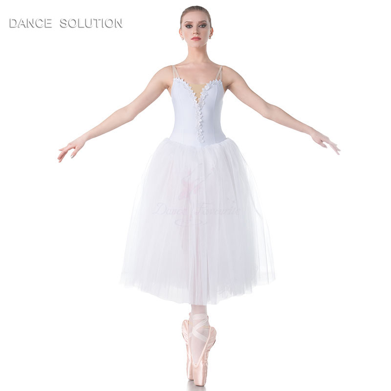 White Romantic Tutus Camisole Long Ballet Tutu for Child and Adult Performance Costume Ballerina Dress 11 Sizes Available 18012-in Ballet from Novelty & Special Use    2