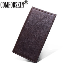 COMFORSKIN New Arrivals 100% Genuine Leather ID Card Credit Holders Large Capacity Wallets 2018 High Quality