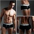 2017 pouplar marca para hombre boxers de algodón hombres de algodón sexy mens underwear calzoncillos masculinos bragas multicolor