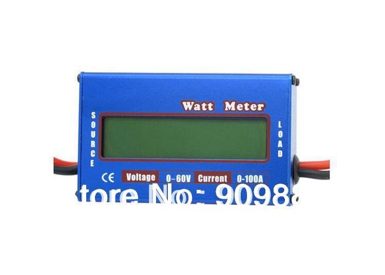 Фирменная Новинка Цифровой ЖК-дисплей 60 В/100A Ватт метр RC Напряжение Батарея баланс Мощность анализатор 0.01 точность 100% оригинал Бесплатная д…