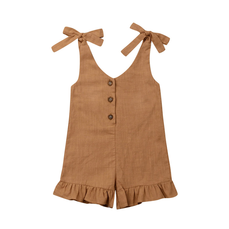 CA Toddler Kids Baby Girl Summer Clothes Ruffle Romper Jumpsuit Overalls Outfits