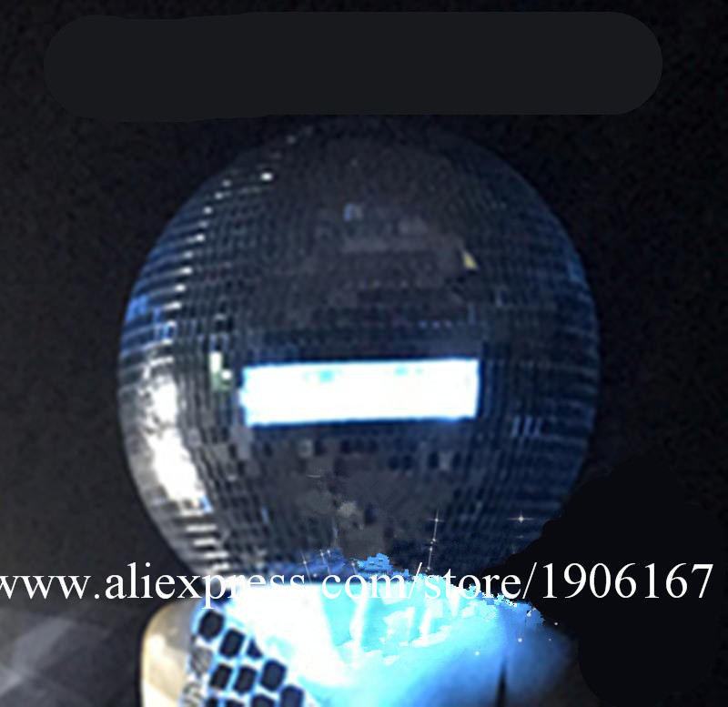 Ballroom dance costumes mirror men women singer stage show wears dj clothe Glass ball led helmet catwalk disco performance3 -