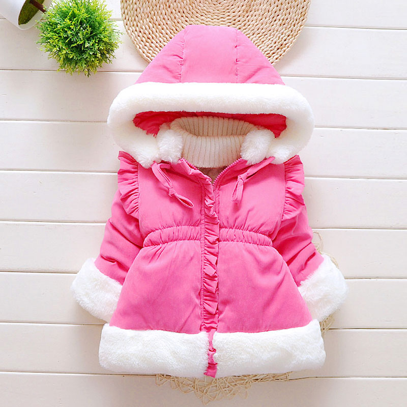 2017 winter girls baby clothes outfits sports jacket