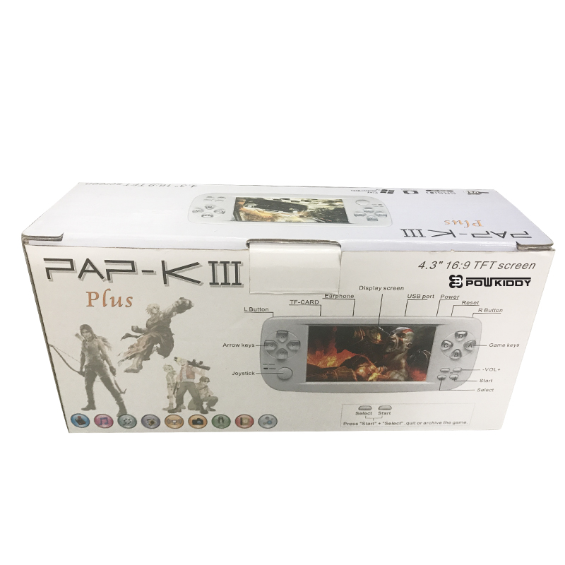 Videospiele Unterhaltungselektronik Praktisch Pap K3 4,3 Zoll Spielkonsole Handheld-konsole 32 Bit Tragbaren Video Spiel In 653 Spiele Unterstützung Cp1/cp2/neogeo/gba 01