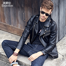 Outerwear & Coats Jackets Male autumn fashion slim turn-down collar motorcycle leather clothing men's clothing jacket outerwear