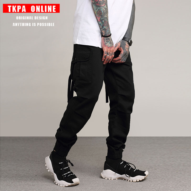 TKPA Man Military Style Army Cargo Pants Large Pockets Casual Pants Spliced Camouflage Multi Pocket Sweatpants Joggers Trousers