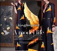 Designer 35 Natural Mulberry Silk 65 Woolen Clothing Fabric Silk Woolen Satin Golden Crane Cheongsam Dresses