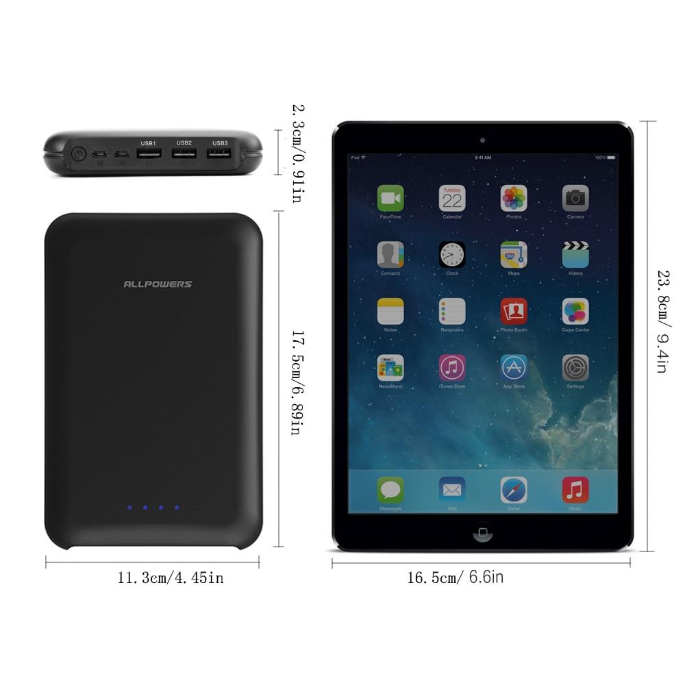 ALLPOWERS batterie externe 30000 mAh Portable Téléphone batterie externe Pack avec 3 Sortie 2 Entrée Rapide De Charge pour téléphone Portable iphone - 2