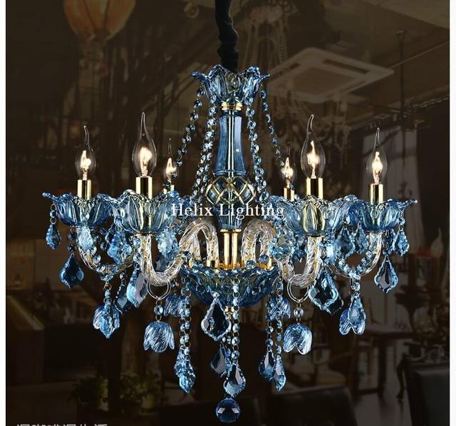 Hochwertig Europäische Art Deco Bunte Kronleuchter Mischfarbe/Rosa/Schwarz/Blau Farbe  Wohnzimmer Candle Lampen