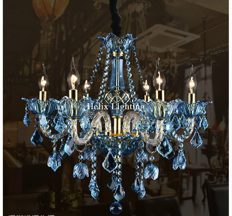 European Art deco Colorful Chandelier Mixed color/Pink/Black/Blue Color Living Room Candle Lamps luxury Acrylic Crystal Lighting free shipping white blue chandelier living room candle lamps luxury acrylic crystal chandelier lights ac 100% guaranteed