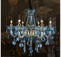 European Art deco Colorful Chandelier Mixed color/Pink/Black/Blue Color Living Room Candle Lamps luxury Acrylic Crystal Lighting
