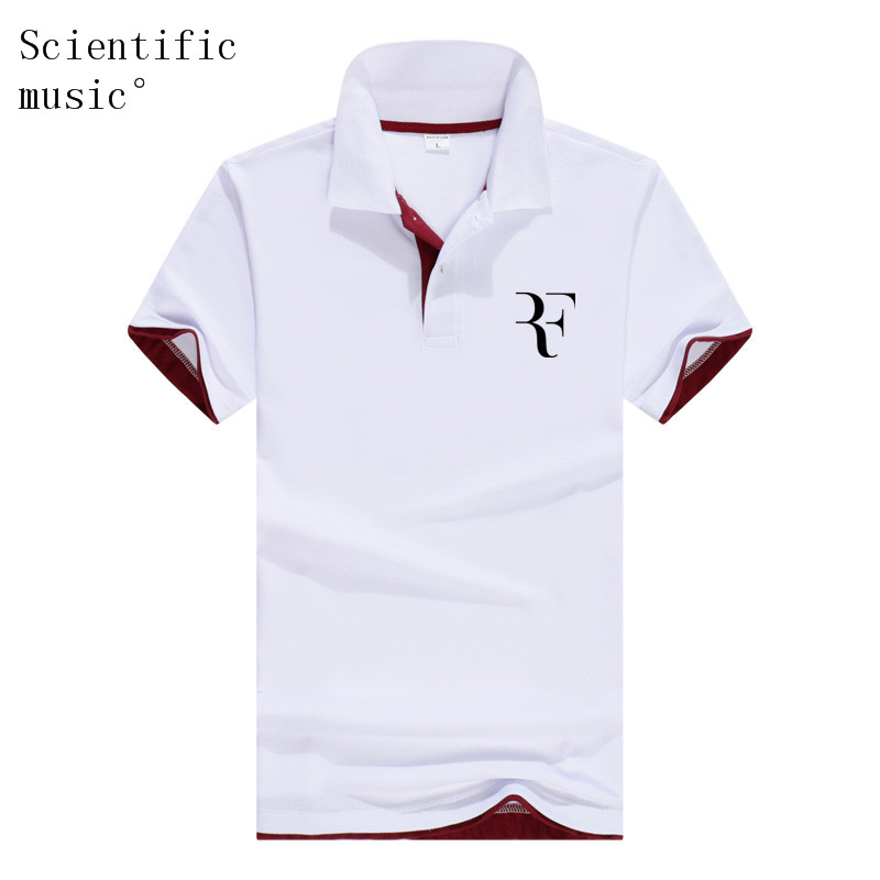 New fashion Roger Federer perfect logo printed   polo   RF New men high quality social   Polo   shirts   Polo   Shirt for women and mens'