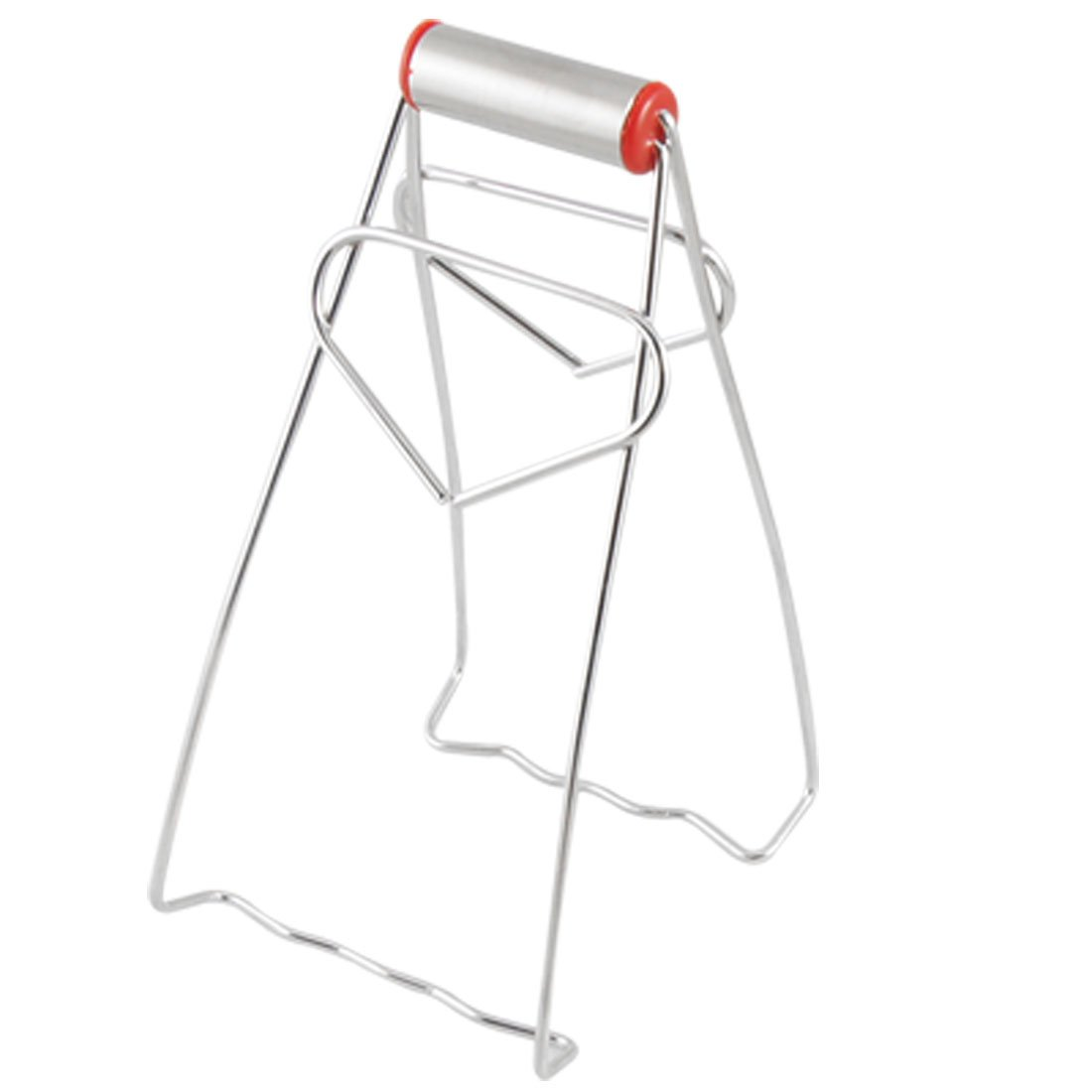 TOP! Stainless Steel Foldable Dish Plate Clip Tong For Cook Chef