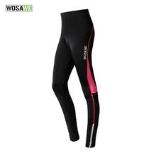 WOSAWE Велоспорт колготки и брюки женские дышащие быстросохнущие спортивные 4D гелевые мягкие MTB дорожный велосипед одежда брюки