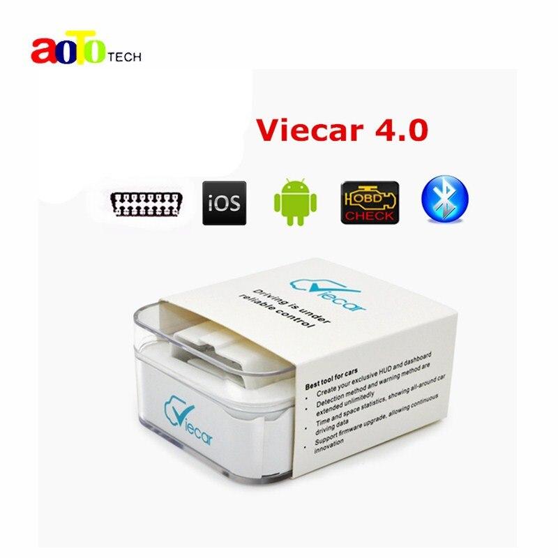 Neue super mini elm327 neueste viecar 4,0 obd2 bluetooth scanner für multi-marken mit Auto HUD Anzeige Funktion für Android & IOS