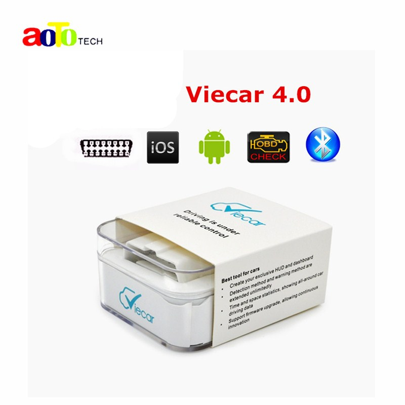 New Super mini elm327 Newest Viecar 4.0 OBD2 Bluetooth Scanner for Multi-brands with Car HUD Display Function for Android & IOS