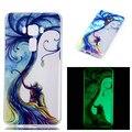 Caixa do telefone para asus zenfone 3 5.5 ze552kl bonito dos desenhos animados Luminoso pintado projeto TPU Caso de Telefone Macio Da Pele de Silicone de Volta cobrir