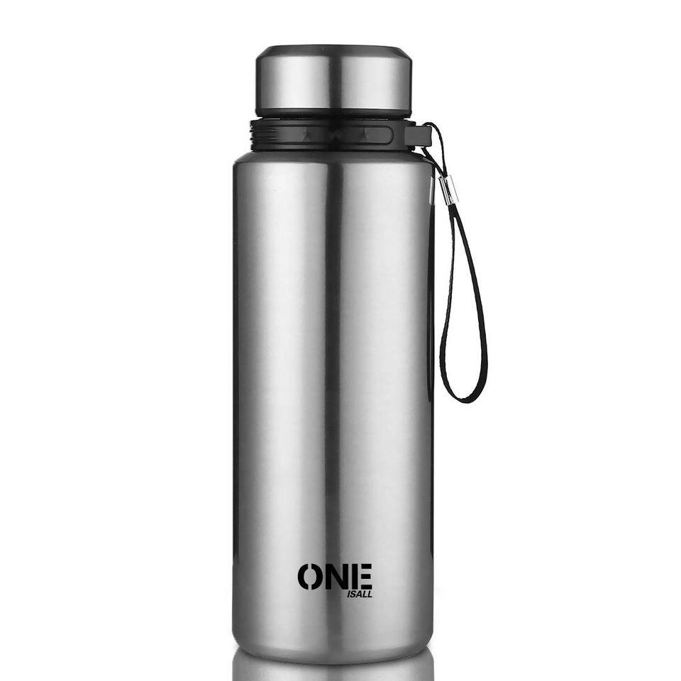 THERMOS bouteille fiole VIDE en acier inoxydable 1000 ml Café Thé Eau Travel Cup